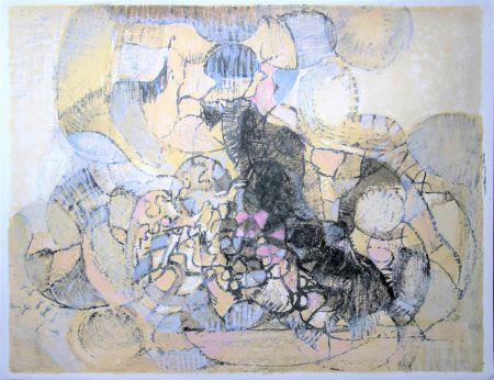 Litografía Bolin - Paysage à la lumière grise et rose