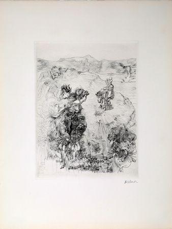 Grabado Bellmer - Paysage 1800