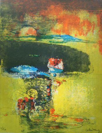 Litografía Lebadang - Paysage a la Jonque
