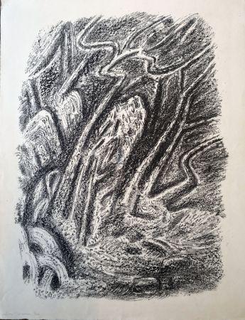 Litografía Masson - Paysage au Cascatelles