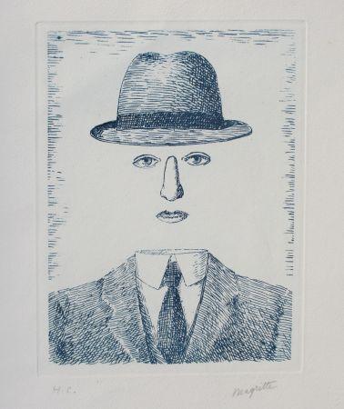 Aguafuerte Magritte - Paysage de Baucis