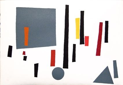 Serigrafía Goeritz  - Paysage géométrique