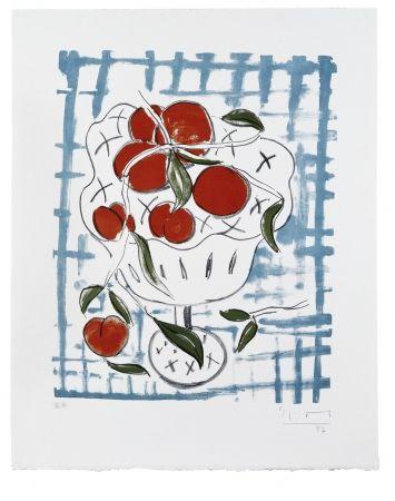 Litografía Szczesny - Peach Still Life