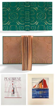 Libro Ilustrado Schmied - PEAU-BRUNE. De St-Nazaire à La Ciotat. Journal de bord de F.-L. Schmied. Dans une reliure décorée de Semet et Plumelle.