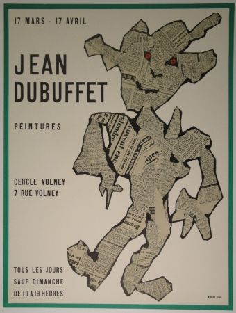 Litografía Dubuffet - Peintures