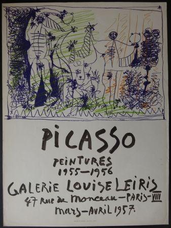 Litografía Picasso - Peintures - Galerie Leiris 1957
