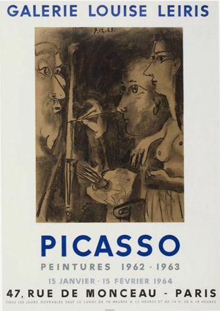 Litografía Picasso - '' Peintures 1962 - 1963 ''