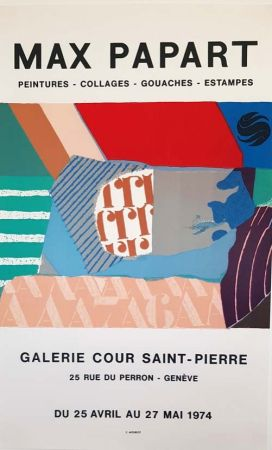 Litografía Papart - Peintures Collages  Gouaches  Estampes Galerie Cour St Pierre