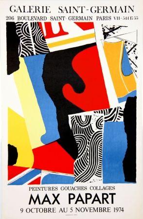 Litografía Papart - Peintures Gouaches Collages Galerie St Germain