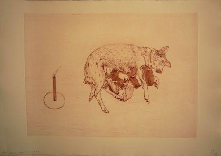 Aguafuerte Y Aguatinta Smith -  Perros de piedra I B