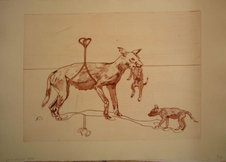 Aguafuerte Y Aguatinta Smith - Perros de piedra I C