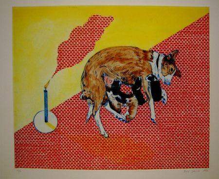 Aguafuerte Y Aguatinta Smith - Perros de piedra II