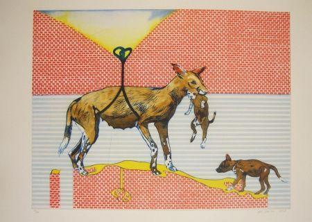 Aguafuerte Y Aguatinta Smith - Perros de piedra III