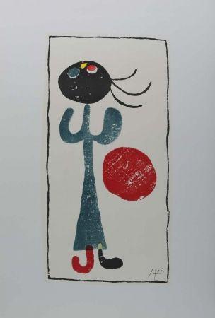 Litografía Miró (After) - Personaje