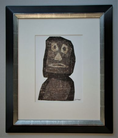 Litografía Dubuffet - Personnage