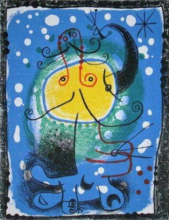 Litografía Miró - Personnage