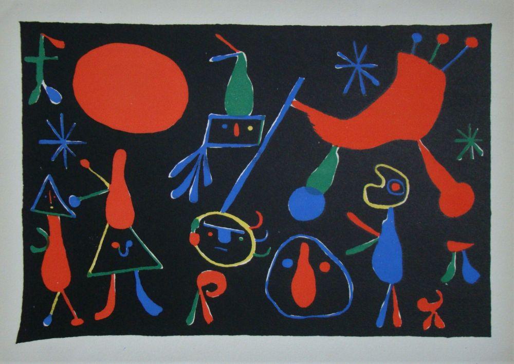 Litografía Miró - Personnages