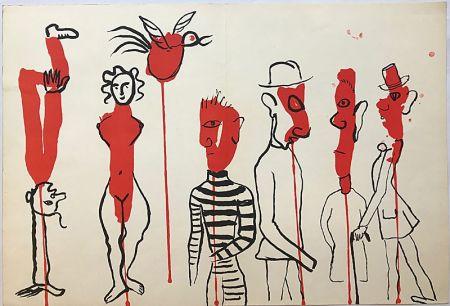 Litografía Calder - Personnages II (1966)