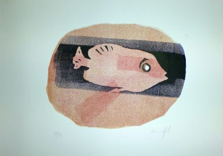 Linograbado Manfredi - Pesce