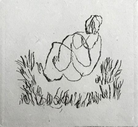 Aguafuerte Fautrier - Petit Nu A