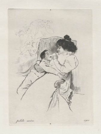 Grabado Legrand - Petite mère
