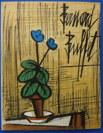 Litografía Buffet - Petite primevère bleue