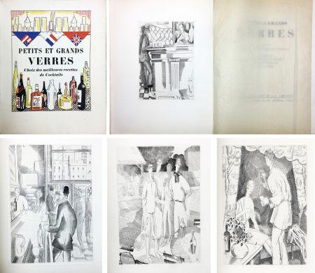 Libro Ilustrado Laboureur - PETITS ET GRANDS VERRES. Choix des meilleures recettes de Cocktails, recueilli par Nina Toye et A. H. Adair. Gravures et dessins de J.-E. Laboureur.