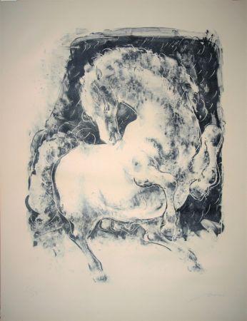 Litografía Erni - Pferd