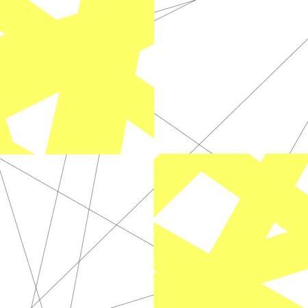 Litografía Morellet - Pi& plis