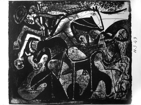 Litografía Picasso - Picador