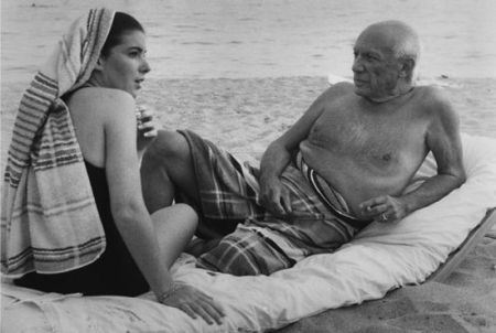 Fotografía Clergue - Picasso And Cathy