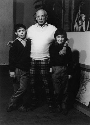 Fotografía Clergue - Picasso Avec Claude Et Paloma