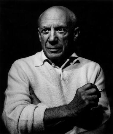 Fotografía Clergue - Picasso con un cigarro