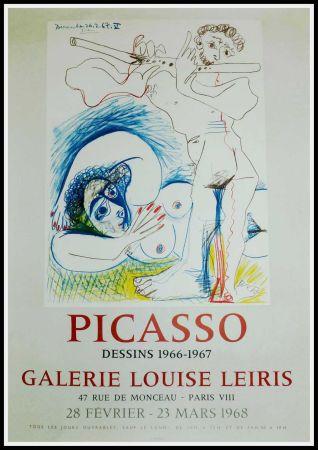 Cartel Picasso - PICASSO, DESSINS 1966-1967 GALERIE LEIRIS 1968