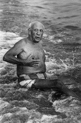 Fotografía Clergue - Picasso en la playa I