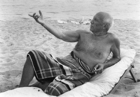 Fotografía Clergue - Picasso en la playa II