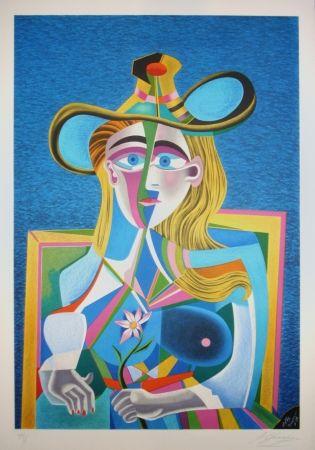 Litografía Chemiakin - Picasso transformation 2