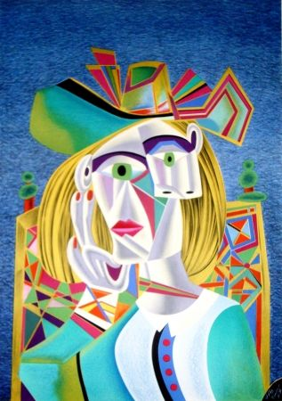 Litografía Chemiakin - Picasso transformation 4