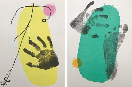 Litografía Miró - Pieds et Mains (Paire)