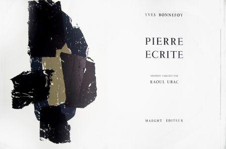Litografía Ubac - Pierre écrite