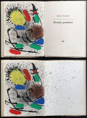 Libro Ilustrado Miró - Pierre Torreilles : ERRANTES GRAMINÉES (1971).