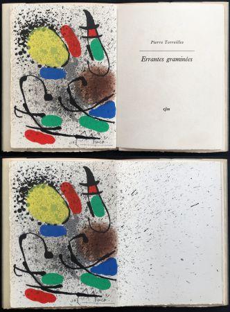 Libro Ilustrado Miró - Pierre Torreilles : ERRANTES GRAMINÉES (GLM 1971)