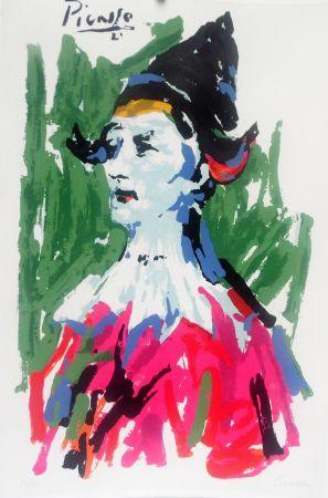 Litografía Picasso - Pierrot