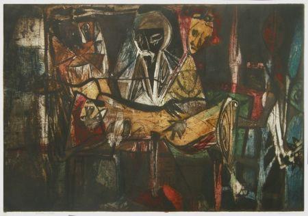 Aguafuerte Lasansky - Pieta