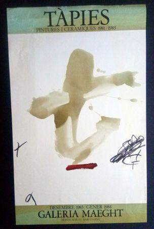 Cartel Tàpies - Pintures i Ceràmiques - Galeria Maeght 1983/1984