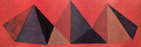 Litografía Lewitt - Piramidi IV