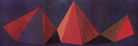Litografía Lewitt - Piramidi VI
