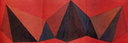 Litografía Lewitt - Piramidi VIII