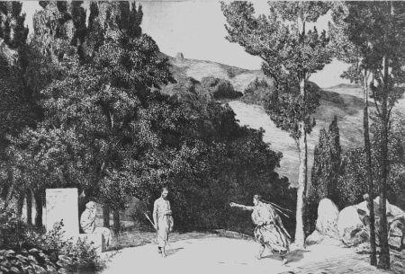 Aguafuerte Y Aguatinta Klinger - Piramo e Tisbe III