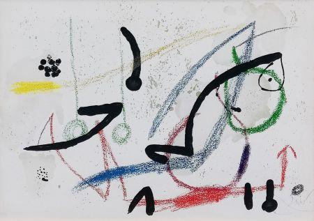 Litografía Miró - PL. 9 (FROM MARAVILLAS CON VARIACIONES ACRÓSTICAS EN EL JARDIN DE MIRO)